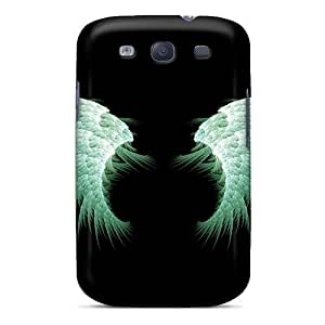 New Shockproof Protection Case Cover For Galaxy S3/ Green Angel Wings Case Cover