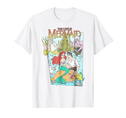 Disney The Little Mermaid Vintage Cover Graphic T-Shirt -