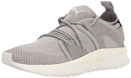 PUMA Men's Tsugi Blaze Evoknit Sneaker, Rock Ridge-Birch-Whisper White, 8 M US