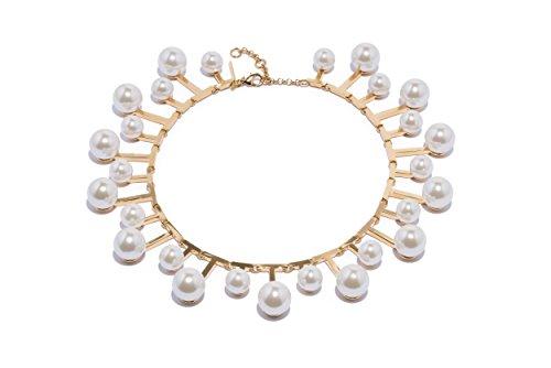Lele Sadoughi femme    Plaqué or Rond  Perle d'imitation Blanc Perle FASHIONNECKLACEBRACELETANKLET