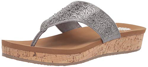(Yellow Box Women's Cristal Sandal, Pewter, 9 M US)
