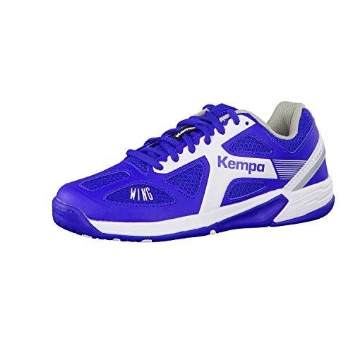 Kempa Handballschuhe Junior Kinder Turnschuhe für die Halle royal blau/weiß