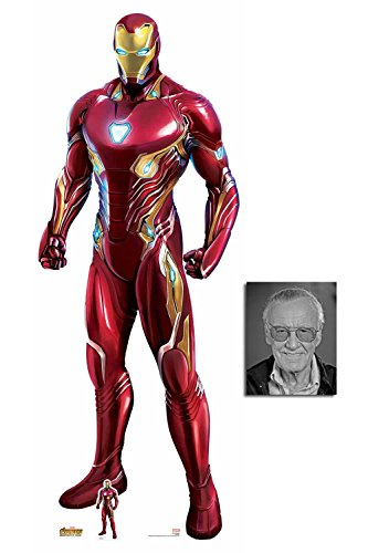 (Iron Man Nanotech Suit Avengers Infinity War Lifesize and Mini Cardboard Cutout Fan Pack, 192cm x 74cm, Includes 8x10 Star)