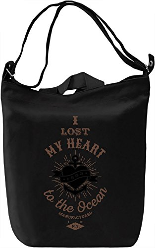 I lost my heart to the ocean Borsa Giornaliera Canvas Canvas Day Bag| 100% Premium Cotton Canvas| DTG Printing|