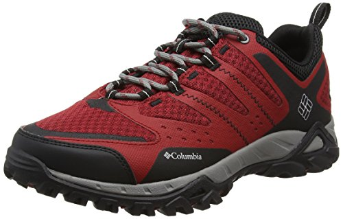 Columbia Peakfreak Xcrsn Xcel Outdry - Scarpe Running uomo, Multicolore (Red Dahlia/Cool Grey), taglia 41