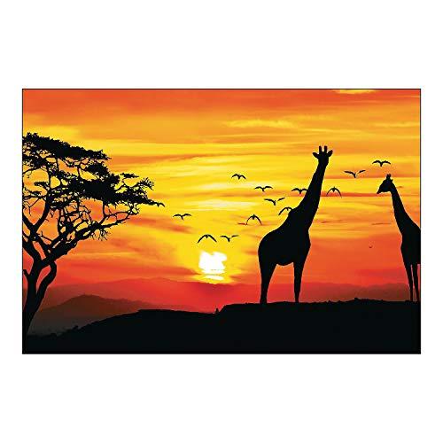 Fun Express African Safari Backdrop Banner - Party Decor - Wall Decor - Preprinted Backdrops - 3 Pieces