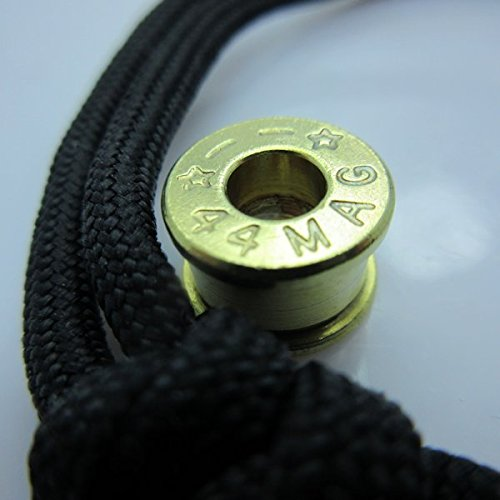 Jig Pro Shop Bullet Casing Paracord/Lanyard Bead in Brass by Bullet KeyRing (.44 Magnum)