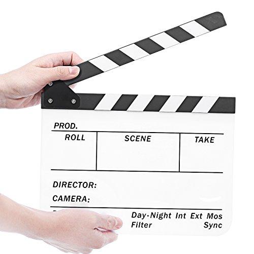 Neewer Acrylic Plastic Directors Clapboard