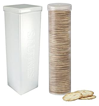 Wonderful Set Of 2   Saltine Cracker Sleeve Storage Container / Cookie Stay Fresh  Keeper, Round
