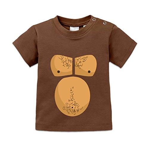 [Shirtcity Gorilla Costume Baby T-Shirt 80/86 Brown] (Baby Gorilla Costumes)