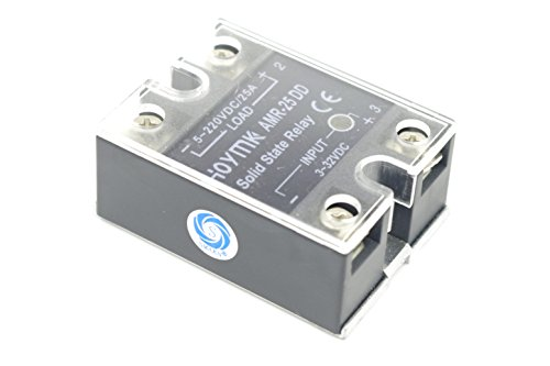 - SMAKN SSR-25DD Single Phase Solid State Module Relay 25A DC 5-220V