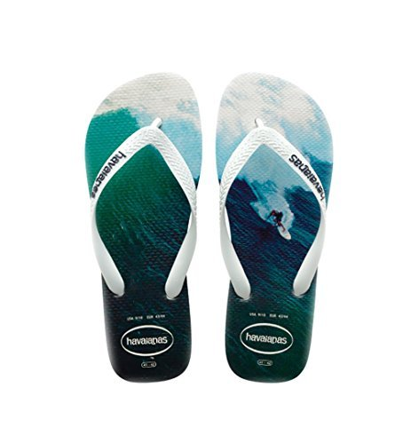 Havaianas Men's Hype Sandal, White/White/Navy Blue,43/44 BR (11-12 M - Havaianas Sale
