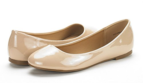 Flats NUDE Sole PAIRS Comfort Classic Plain Simple PAT Shoes Solid Design Ballerina DREAM Women's Walking New 17q6nfgww