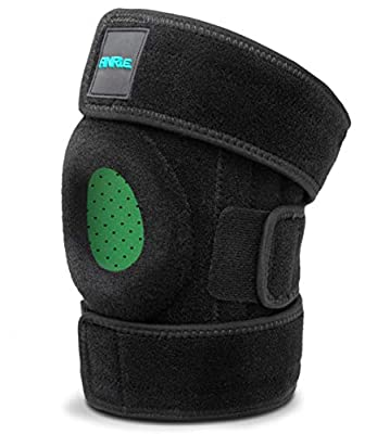 Knee Support - Breathable Adjustable Knee Brace for Meniscus Tear, Arthritis, ACL, MCL, LCL, PCL, Recovery and Sports – Open Patella Stabilizer with Silicone Fixing Ring