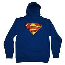 Blue Superman Logo Hoodie DC Comics