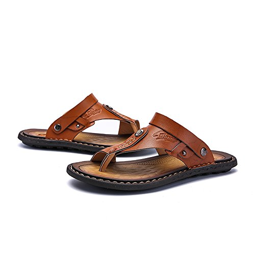 in 2018 a da Scarpe pattino dimensioni da vacchetta spiaggia da Marrone Casual uomo doppia di grandi uomo sandali funzione di Sandali pelle pantofola wv6qd5wxr