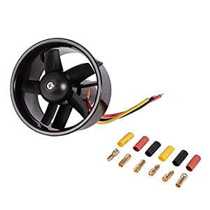 XCSOURCE 64mm Ducted 5-Rotor Fan with 4500KV Brushless Outrunner Motor Balance Tested for EDF Jet AirPlane RC379