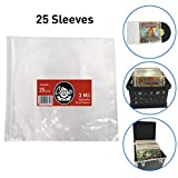 """Classic Acts Vinyl Record Sleeves Protect Your Album Covers - LP Sleeves Fit Single and Double Albums – Size: 12.5"""" X 12.75"""" - 3 Mil Thick (25 Pack)"""
