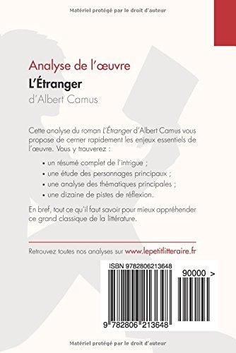 L\'Étranger d\'Albert Camus (Analyse de l\'oeuvre): Comprendre la ...