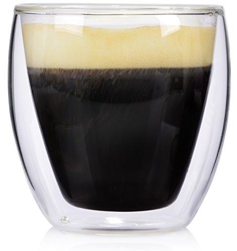 Doppelwandiges Café Crème- Glas Set by Sänger 6-tlg. 200 ml Kaffee Gläser