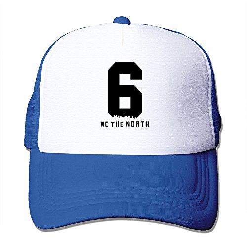 Men Women Raptors Basketball WE THE NORTH 6IX Logo Cap RoyalBlue
