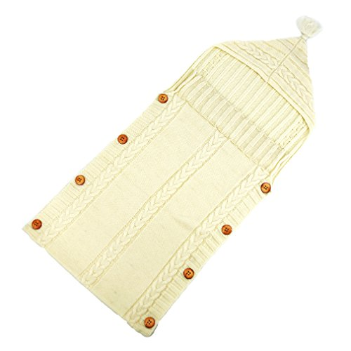XMWEALTHY Newborn Baby Wrap Swaddle Blanket Knit Sleeping Bag Sleep Sack  Stroller ... a0b4c1dc2