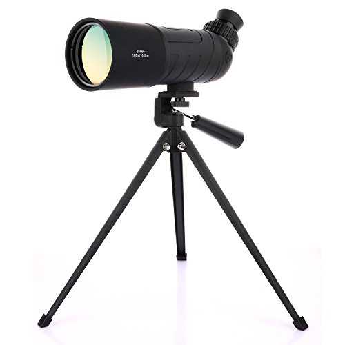 OXA 20x60 Angled Waterproof Spotting Scope with Tripod for Birdwatching Portable HD Monocular Telescope High Powered Scope for Target Shooting Archery Outdoor Activities