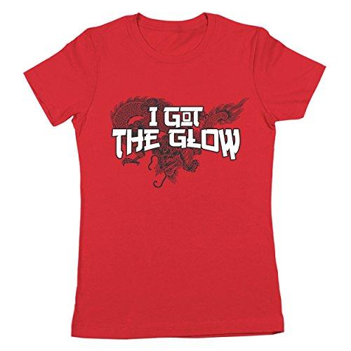 I Got The Glow Martial Arts Funny Comedy Last Dragon Harlem Shogun Shonuff 80s 90s Urban Movie Humor Womens Shirt Large - 80s Urban Fashion