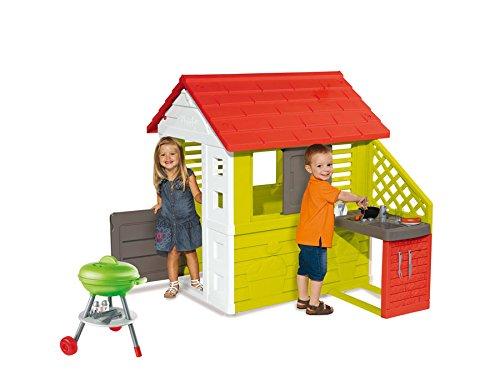 Sommerküche Für Kinder : Ideal trend smoby spielhaus naturhaus mit sommerküche grill