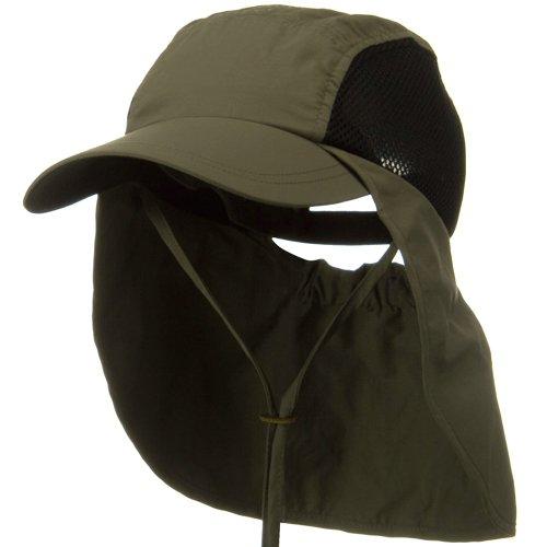 Juniper UV 50+ Talson Side Mesh Flap Cap - Olive