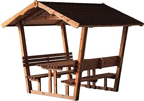 Cenador de jardín con Panche y mesa Imbermeabile, fácil y segura.: Amazon.es: Hogar
