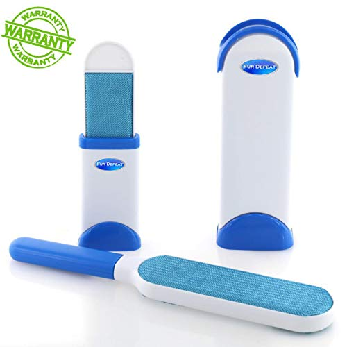 Brellavi Pet Hair Remover Brush with Self-Cleaning Base