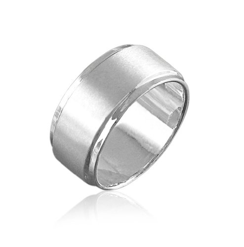 VINANI Herren Ring Infinity XL Maennerring Silber 925 RIB Gr: 60/19