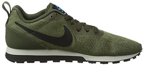 Nike Mesh da Scarpe Multicolore Basse Uomo Ginnastica Runner Black 301 ENG lt Khaki 2 Cargo MD rIRqwr