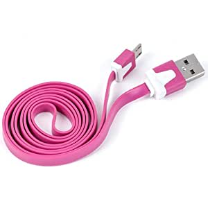 NFE² High Quality USB Cable de datos plano Rosa Huawei Ascend D1 Quad XL