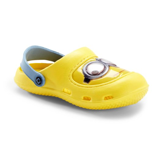 Despicable Me Kids Yellow Minions Clogs FJYE0327 (11/12 M US Little Kid) (Despicable Me Shoes)