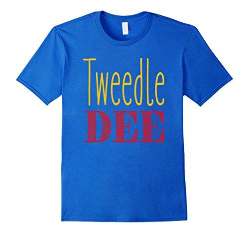 Tweedle Dum And Tweedle Dee Halloween Costumes (Mens Tweedle Dee T-Shirt Halloween Costume Tee Small Royal Blue)