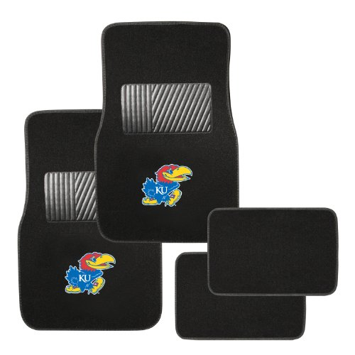 - Pilot Alumni Group FM-910 Universal Fit Four Piece Floor Mat Set (Collegiate Kansas Jayhawks)