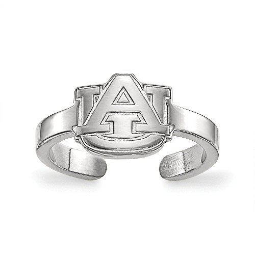 Au Toe Ring - Sterling Silver LogoArt Official Licensed Collegiate Auburn University (AU) Toe Ring
