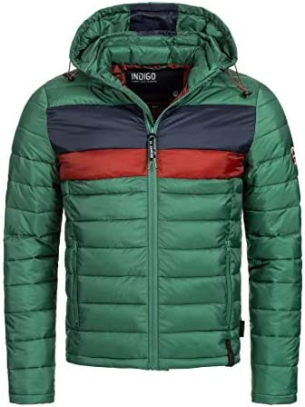 Herren Hampshire Steppjacke in Daunenjacken-Optik mit Abnehmbarer Kapuze | warme modische Winterjacke leichte gefütterte Übergangsjacke Jacke für Männer