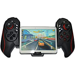 Fashionlive Wireless USB Rechargeable Telescopic Bluetooth Pro Game Pad Controller Remote Gaming Joystick for iOS iPhone iPad Android Pad TV Box Tablet PC