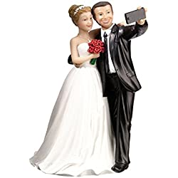 Lillian Rose F988 Funny Selfie Bride & Groom Wedding Cake Topper, Multicolor
