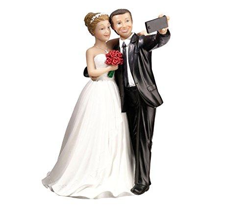 Lillian Rose Funny Selfie Bride & Groom Wedding Cake Topper, Multicolor