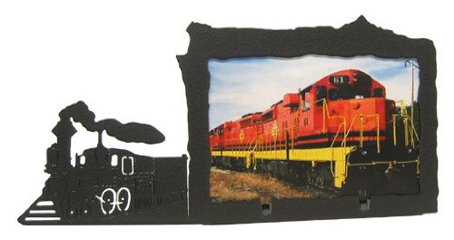 (Innovative Fabricators, Inc. Steam Engine Train 4X6 Horizontal Picture Frame)