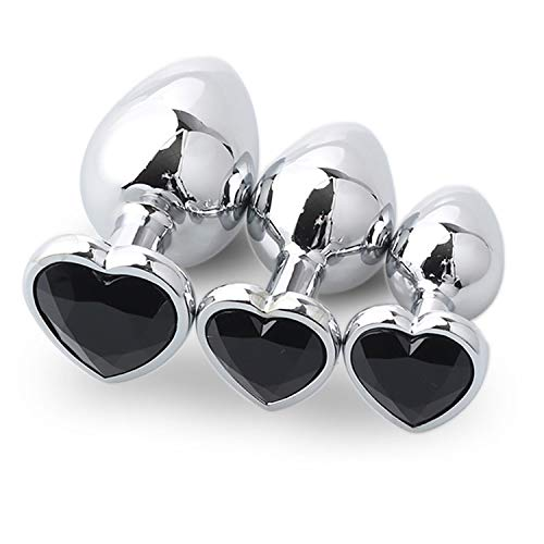 New 3 Pcs Heart Shaped Base with Jewelry Birth Stone Play Rose Jewel Female Adult Toy Waterproof -