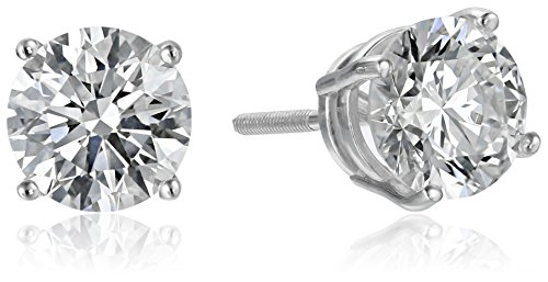 IGI Certified 18k White Gold Lab Created Diamond Stud Earrings (2 cttw, G-H Color, VS1-VS2 Clarity)