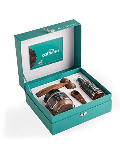 mCaffeine Coffee De-stress Gift Kit | Tan Removal, Nourishing | Body Scrub, Body Oil | All Skin | Paraben & Mineral Oil…