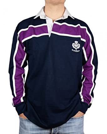 4f3a048fc3e Scotland Thistle Long Sleeve Rugby Shirt (XL): Amazon.co.uk: Clothing