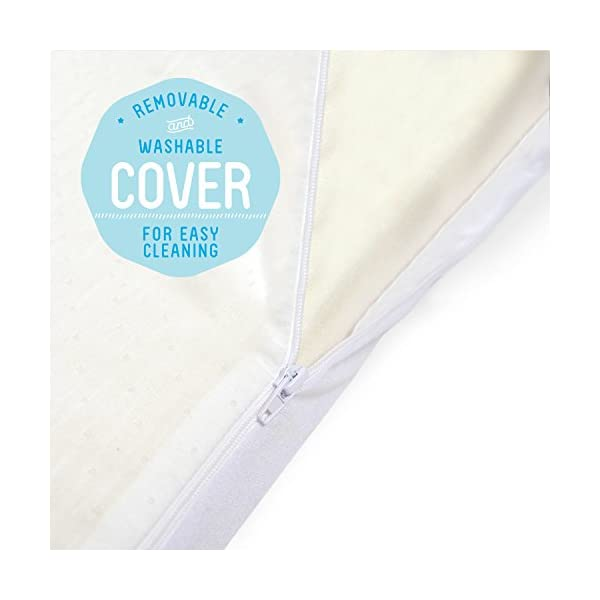 "Milliard 2-Inch Ventilated Memory Foam Crib/Toddler Bed Mattress Topper with Removable Waterproof 65-Percent Cotton Non-Slip Cover - 51.5"" x 27"" x 2"" 4"