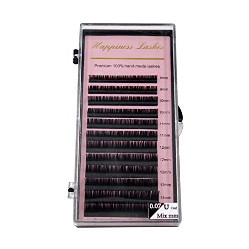 HPNESS Eyelash Extension Individual Lashes 0.07 U Curl 8-15 mm Mixed Length Premium Soft Eye Lash For Eyelash Salon or Trading Academy ()